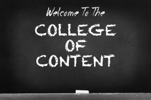 Read: College of Content (Without a Murmur)