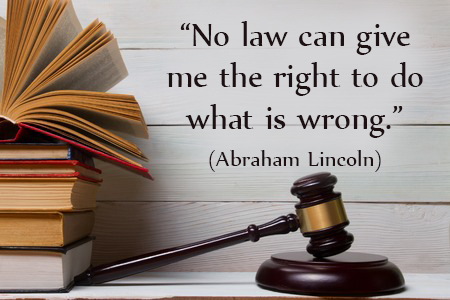 Dare to Say Wrong is Wrong Even If Law Says It's Okay